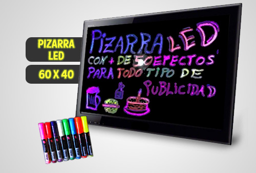 Pizarra Led Fluorescente + Set de Plumones