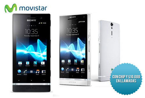 33% Sony Xperia S + Chip con $10.000 Movistar