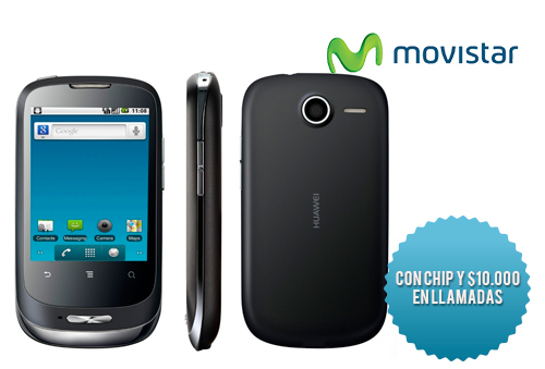 40% Huawei U8180 + Chip con $10.000 Movistar