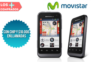 33% Motorola Defy Mini Negro 3G + Chip con $10.000 Movistar