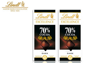 Pack 2 Chocolates Lindt Excellence Dark