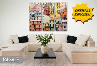 55% Serie de 3 cuadros canvas de 24x60cm