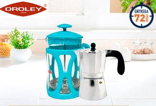 44% Set de 2 cafeteras Oroley