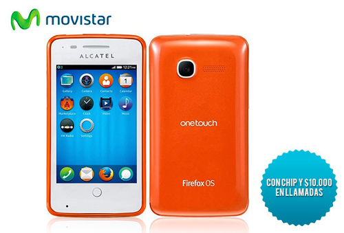 28% Alcatel Fire 4019 + Chip con $10.000 Movistar