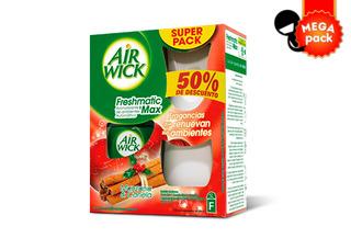 48% 2 Air Wick Freshmatic Manzana Canela
