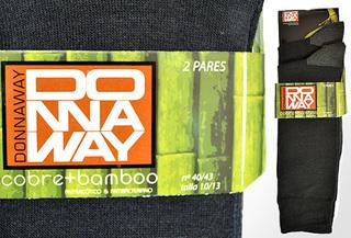 4 pares calcetines Negro Donnaway de bamboo y cobre