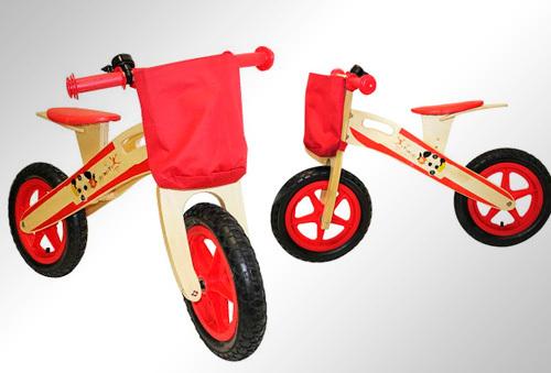 Bicicleta de madera infantil