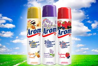 Pack de 3 Eliminador de olor en spray, marca Arom
