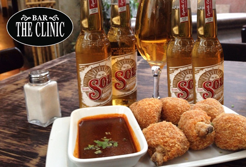 38% Tabla de Pollo + 4 Cervezas Sol en Bar The Clinic