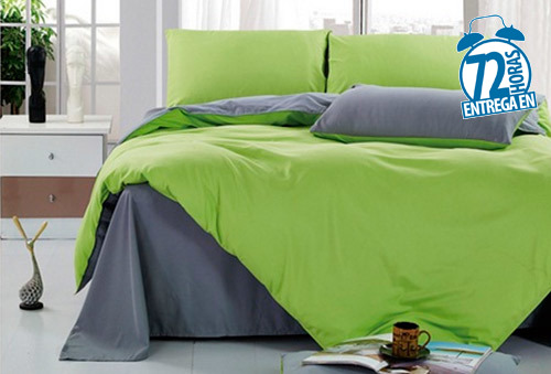 Set Plumón + Sabana cubre colchón + 2 cubre almohada