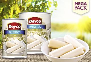 Pack 12 ó 24 latas de Corazones de Palmitos enteros, Deyco