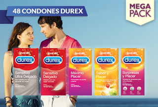 51% Pack de 48 Condones Durex. Elige el tuyo!