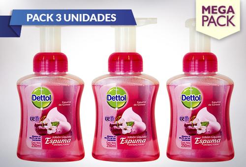 27% Pack 3 Dettol Jabón Espuma 250ml