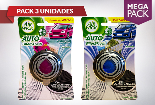 39% Pack 3 Air Wick Car Auto Filter & fresh