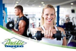 Paga $143.100 por 1 plan anual en Pacific Fitness