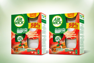 57% Pack 2 Air Wick Freshmatic Manzana Canela
