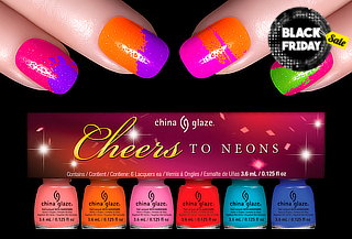 22% 6 Mini esmaltes China Glaze Cheers to Neon