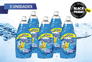 48% Pack de 5 lavalozas Magistral® Brisa Marina 500 ml