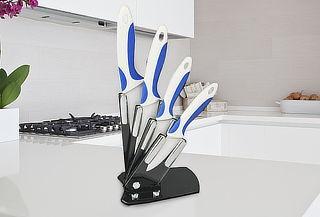 Set de 4 Cuchillos hoja de Cerámica + Soporte