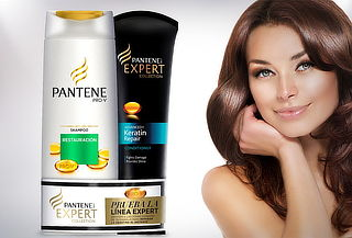 50% Pack Pantene Expert Shampoo 400ml + Acond. 250ml