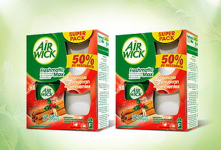 50% Pack 2 Air Wick Freshmatic Manzana Canela