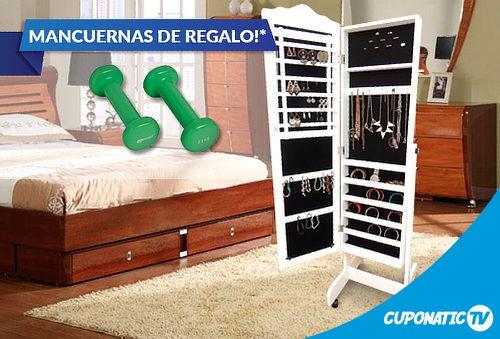 Mueble Espejo Joyero+Mancuernas de Regalo a los 30 primeros!