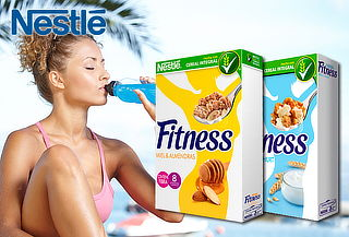 28% Pack de 4 Cereales Fitness Yogurth y Almendra Miel