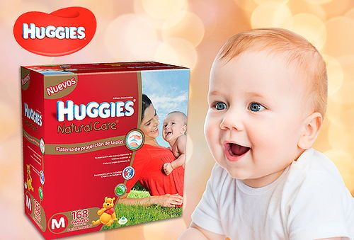 27% Pañales Huggies Natural Care