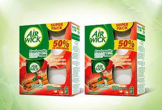 51% Pack 2 Air Wick Freshmatic Manzana Canela