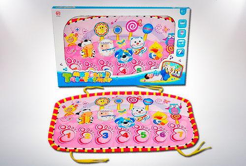 Alfombra musical para niños, azul o rosada