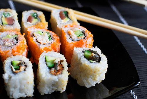 3 rolls en Sushi Sama Providencia