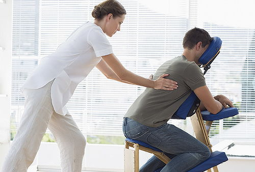 Masaje Express en silla Ergonometrica + Ictioterapia