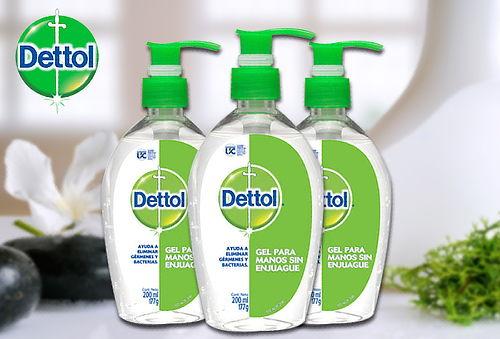 Pack Dettol Gel Desinfectante 200 Ml 3 Unidades