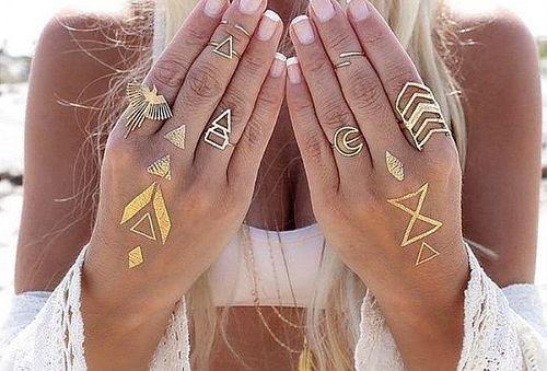 2 Sobres con Tatuajes temporales diseño tribal.