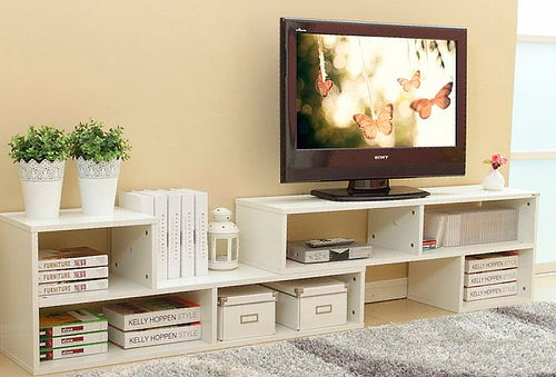 Mueble Rack Modular Blanco
