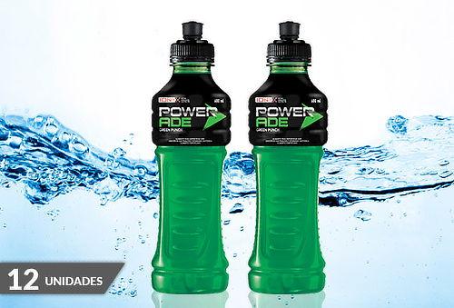 Pack 12 Botellas de Powerade Green Punch de 600 cc