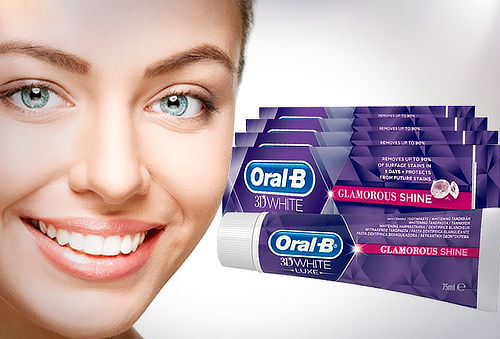 Pack 6 Pastas Dentales Oral B 3D White Luxe 75 ml