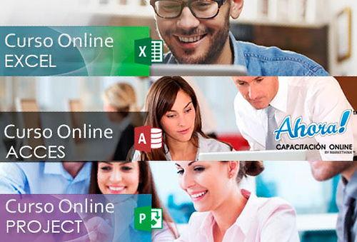 90% Curso Online de Excel + Access + Project