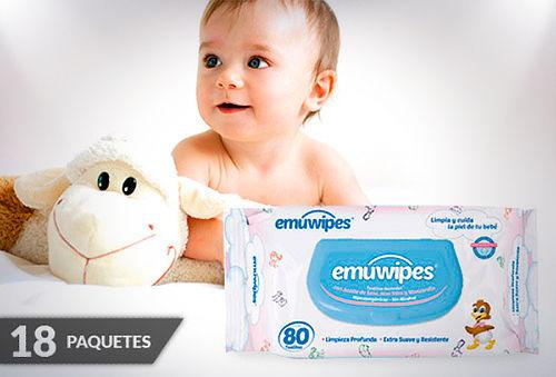 45% 18 Paquetes Emuwipes® Premium 80 Unidades c/u