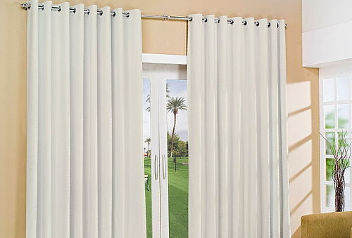 OUTLET - Cortinas Black Out Con Argolla Beige