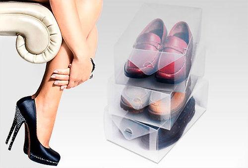 Set de 10 Cajas Organizadoras de Zapatos