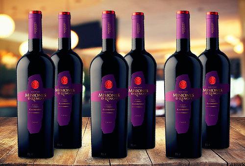 6 Botellas de Vino Misiones de Rengo Gran Reserva Cuvee