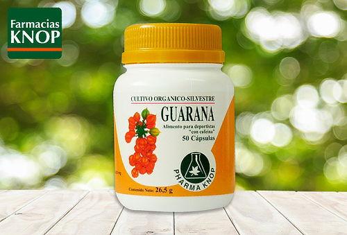 Guaraná 430 mg x 50 cápsulas Pharma Knop