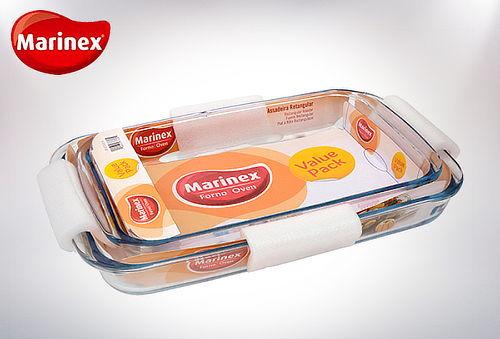 Pack 2 Asaderas Rectangulares Marinex
