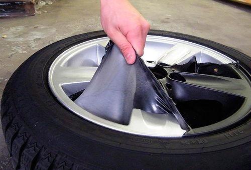 Pintura engomada removible para llantas y espejos de tu auto