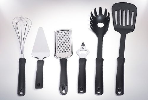 44% Set de 9 Utensilios de Cocina + 2 Cuchillos Chef y Rack