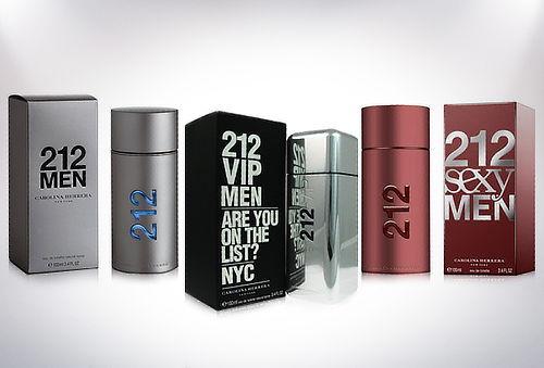 Perfume 212 Men, Vip o Sexy de Carolina Herrera de 100 ml.