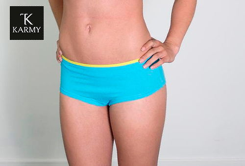 Pack 4 Pantaletas o Bikinis Estampados 100% Algodón, Karmy!