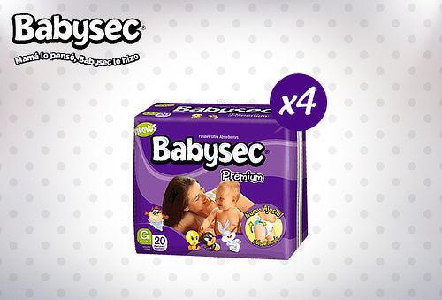 32% Pack 4 Paquetes de Pañales BabySec Premium!