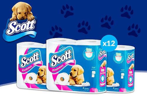 Pack 48 Rollos de Scott Rindemax Doble Hoja!